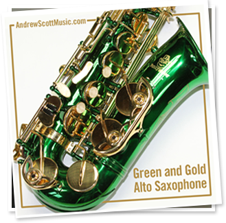 Green Gold Alto Saxophone
