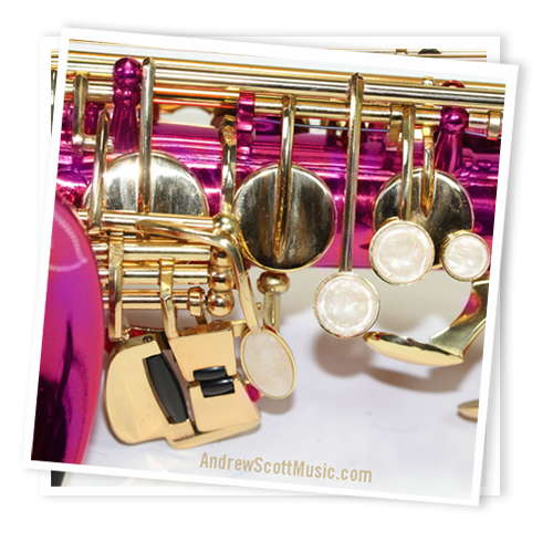 Cheap Hot Pink and Gold Alto Saxophone