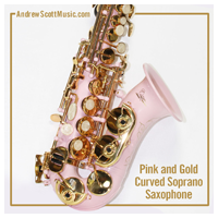 Curved Saxophone Pink