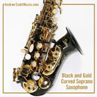 Curved Saxophone Black
