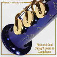 Masterpiece Straight Soprano Saxophone Blue