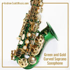 Curved Saxophone Green