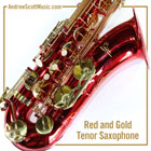 Saxophone Red